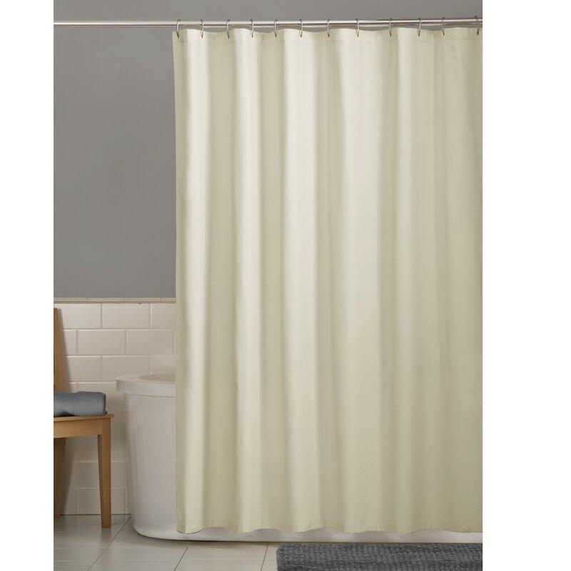 Winston Porter Carnell Fabric Shower Curtain Liner | Wayfair