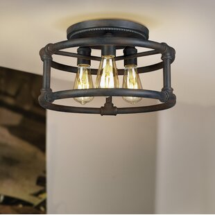 17 Stories Dessert 3-Light Semi Flush Mount