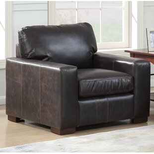 17 Stories Chiasson Leather Club Chair