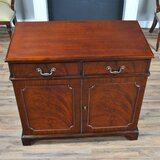 Klem 40 Wide 2 Drawer Mahogany Wood Server by Canora Grey