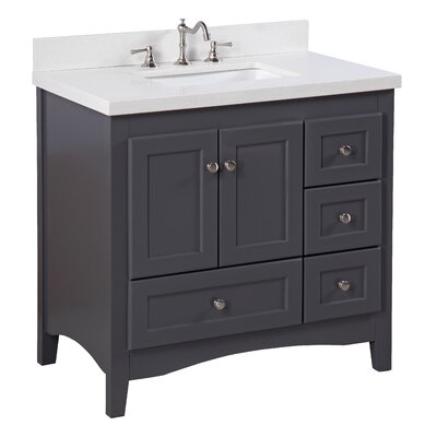 "Bathroom Vanities Tampa kbc westminster 36"" single bathroom vanity set & reviews 