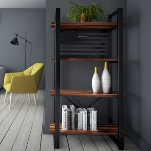 Argueta United Modern Rustic Iron Standard Bookcase Foundry Select