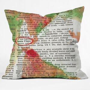 Susanne Kasielke Santa Claus Dictionary Art Throw Pillow