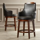Allenville Bar & Counter Swivel Stool (Set of 2) by Three Posts