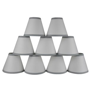 6 Cotton Empire Lamp Shade with Trim (Set of 9)