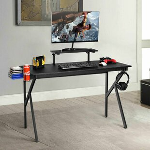 Daniel Gaming Desk Computer Desk PC Table Workstation with Cup Holder & Headphone Hook
