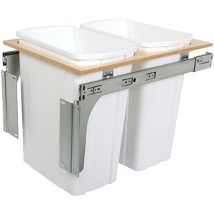 Knape&Vogt Double Top Mount Pull-Out 8.75 Gallon Trash Can
