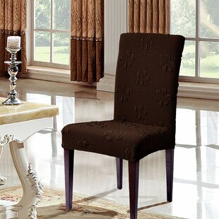 Box Cushion Dining Chair Slipcover (Set of 2) by subrtex