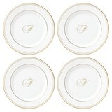 Federal Gold™ Monogram Script 6 Bread and Butter Plate (Set of 4) by Lenox