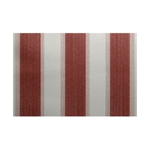 Addyson Stripe Print Orange Indoor/Outdoor Area Rug