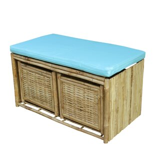 Pyrgos Polyester Storage Bench with 2 Drawers by Bay Isle Home