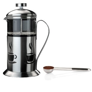 2-Cup 3 Piece French Press Coffee Maker Set with Coffee Clipping Spoon