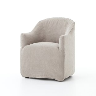 Tornig Cotton Upholstered Arm Chair in Beige