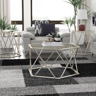 Orren Ellis Howard 3 Piece Coffee Table Set