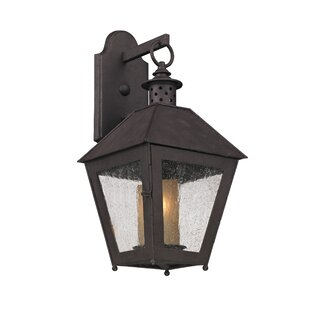 Read Reviews Dinerstein 1-Light Glass Shade Outdoor Wall Lantern By Longshore Tides