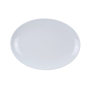 Shefford Coupe Pattern Oval Melamine Platter (Set of 12)