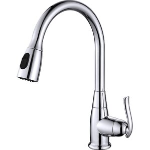 premium faucets single handle pull down standard kitchen faucet - Kraus Faucets