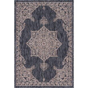 Cowgill Beige/Black Indoor/Outdoor Area Rug by Charlton Home