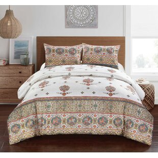 Bratcher Linked Medallion Reversible Comforter Set
