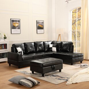 Bertine 102 Right Hand Facing Sectional with Ottoman