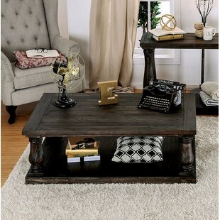 Read Reviews Blackfriars Coffee Table with Wooden Top By Canora Grey
