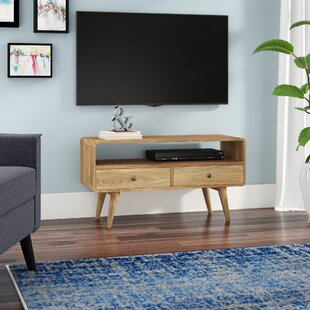 Jarne Solid Wood TV Stand For TVs Up To 40