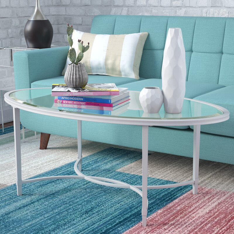 Zipcode Design Buloke MetalGlass Oval Coffee Table Reviews