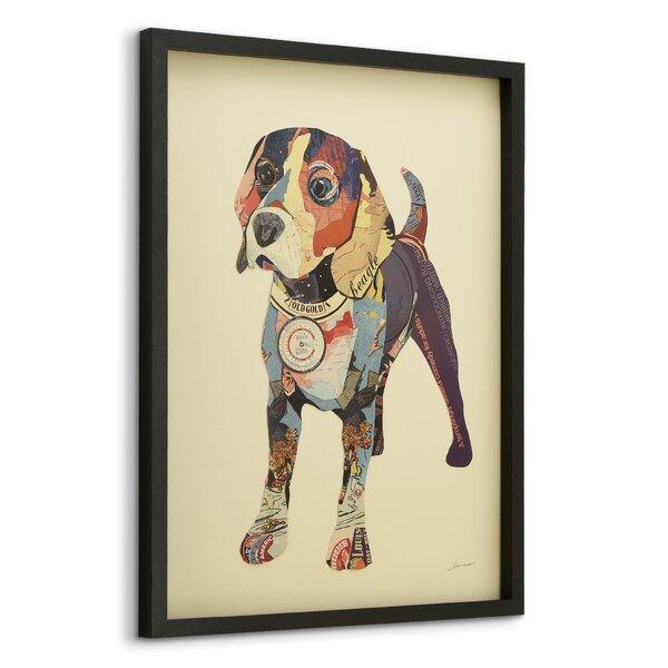 Watercolor Style Beagle Decorative Round Glass Cutting Board