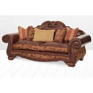 Toscano High Back Leather Sofa