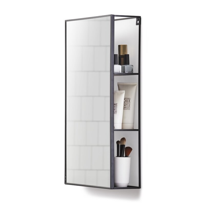 white bathroom mirror with shelf. cubiko bathroom mirror white with shelf l