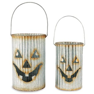 Mud Pie™ Galvanized Tin Pumpkin 3 Piece Luminary Set