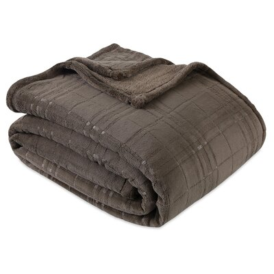 Forest Plush Blanket Berkshire Blanket Color: Burnt Olive, Size: Twin
