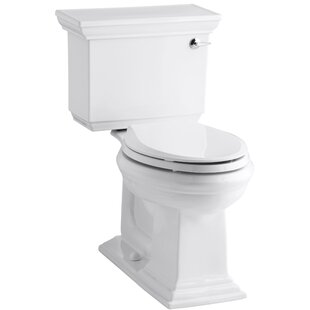 Kohler Memoirs Stately Comfort Height Two-Piece Elongated 1.28 GPF Toilet with Aquapiston Flush Technology and Right-Hand Trip Lever