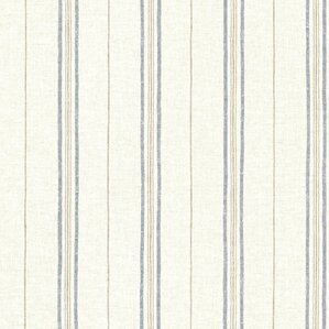 seaside living catals 33 x 205 grain stripe wallpaper roll - Grain Wallpaper