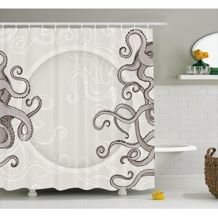 Silvia Fish Octopus Circular Single Shower Curtain by Zoomie Kids No Copoun