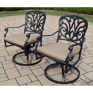 Darby Home Co Bosch Patio Chair with Cushion (Set of 2)