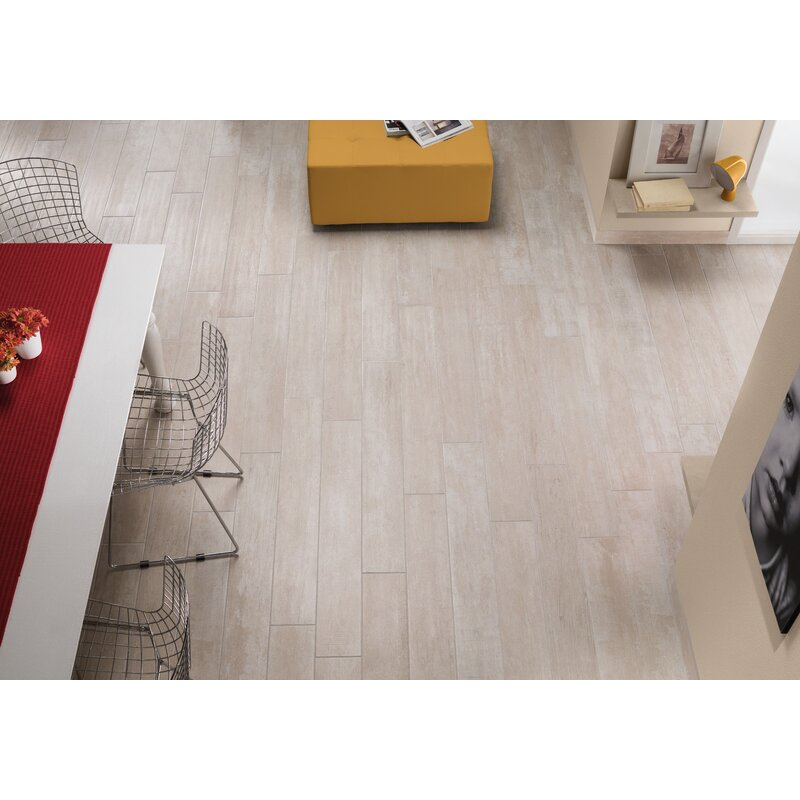 msi helena birch 6 x 40 porcealian wood look tile in beige wayfair