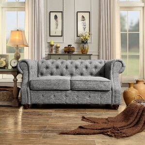 Mulhouse Furniture Olivia Tufted Chesterfield Loveseat