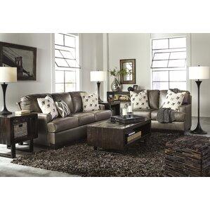 Latitude Run Omega Wood Frame Living Room Set