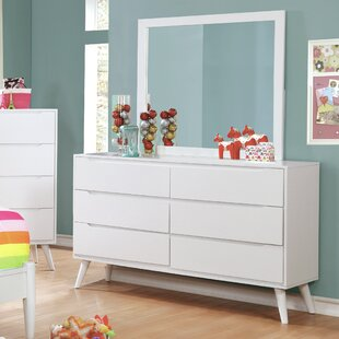 Ricardo 6 Drawer Double Dresser with Mirror