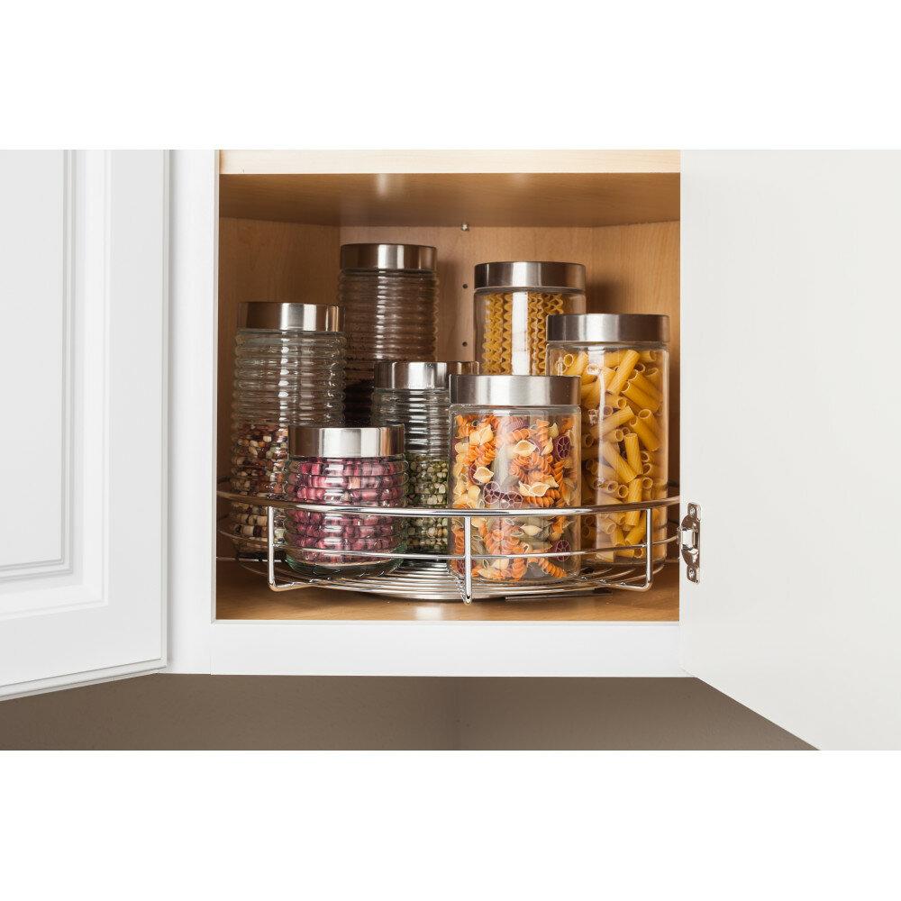 Hardware Resources Single Shelf Lazy Susan 18 X 18 Corner Cabinet Wayfair