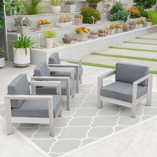 Banning Patio Chair with Cushions (Set of 4)