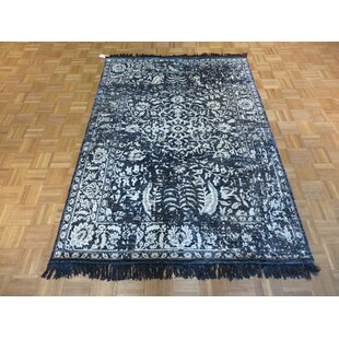 Inexpensive One-of-a-Kind Paden Hand-Knotted Black Area Rug ByBloomsbury Market