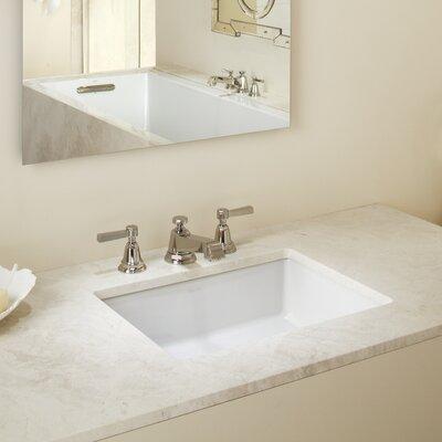 Superieur Verticyl Impressions Ceramic Rectangular Undermount Bathroom Sink With  Overflow