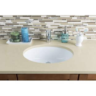 Order Medium Vitreous China Oval Undermount Bathroom Sink with Overflow By Hahn