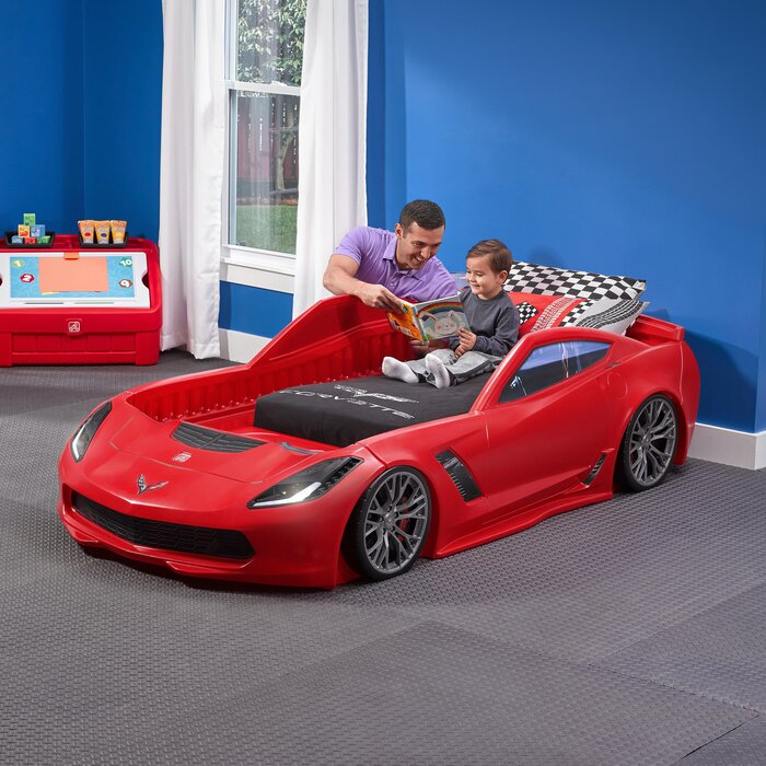 Corvette Car Toddler Bed
