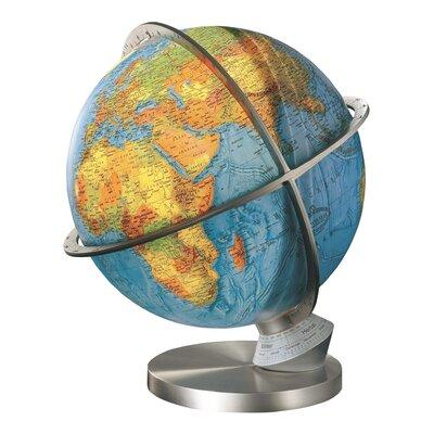 Marco Polo Illuminated Desktop Globe with Brass Base Columbus Globe