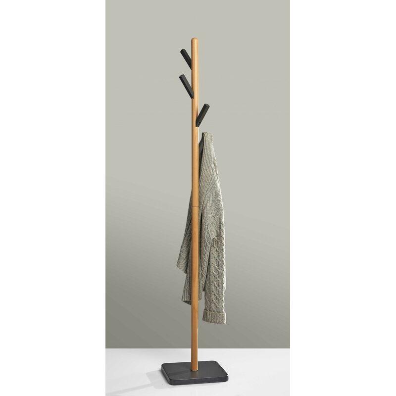 Corrigan Studio Neher Solid Wood 4 Hook Freestanding Coat Rack Wayfair