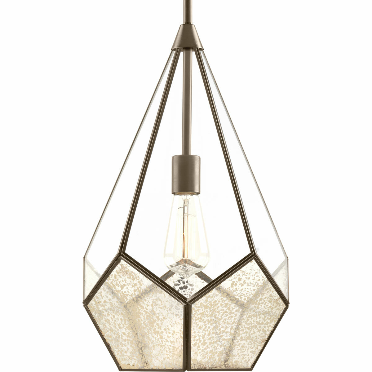 Brayden Studio Brigman 1 Light Single Geometric Pendant Reviews Wayfair