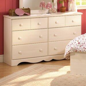 Summer Breeze Kids 6 Drawer Double Dresser